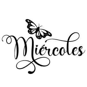 miércoles butterfly word