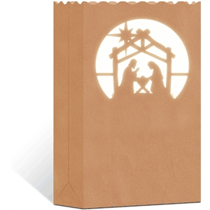 3d paper bag luminary: nativity