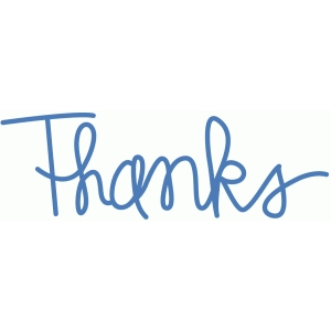 thanks - handwritten script