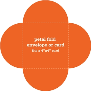 petal fold envelope or card