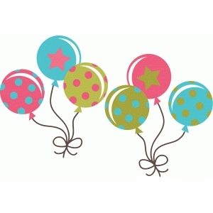 decorated party balloons