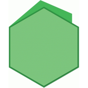 hexagon shaped card