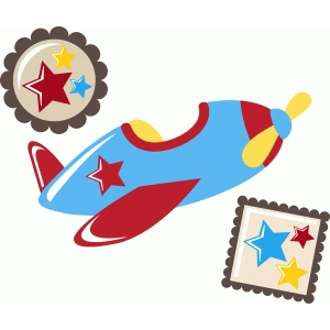 ppbn designs cute airplane with star embellishments