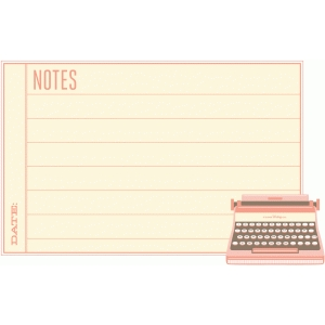 vintage typewriter note card