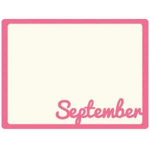 september journaling card