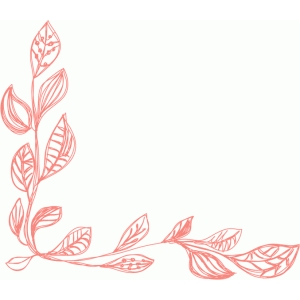 leaves border sketch