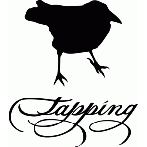 raven tapping - calligraphy