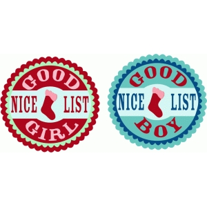 good girl & boy labels