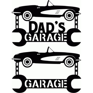 customizable garage vinyl sign