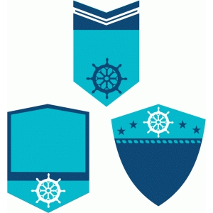 nautical shield labels