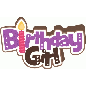 birthday girl shape card