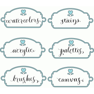 craft room labels – paints