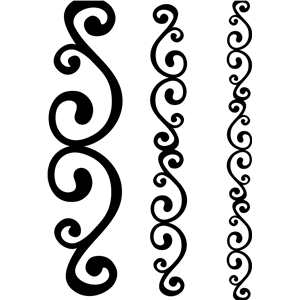 abstract swirl border