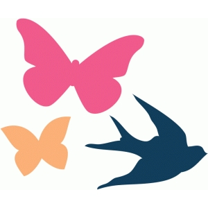 butterflies and bird