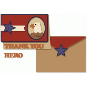 thank you hero eagle window a6 card & envelope