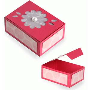 vellum top floral box