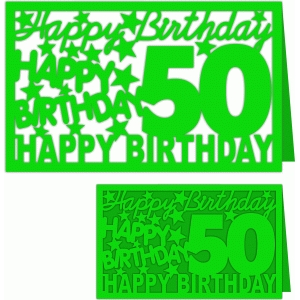 happy birthday 50 years card