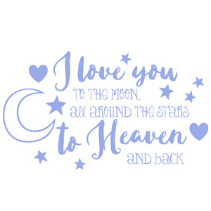 love you to the moon and stars