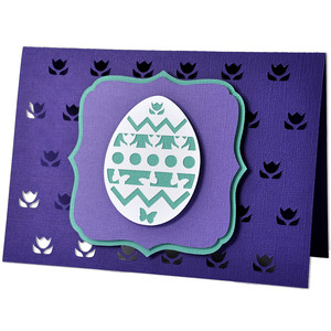 easter egg tulip card