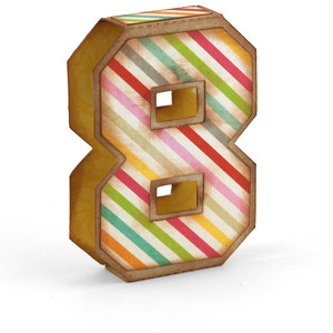 3d simple number 8