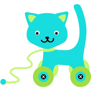 cat toy with wheels