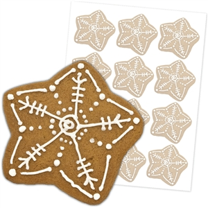 'snowflake' gingerbread cookies