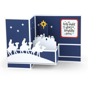 pop up box card christmas wisemen