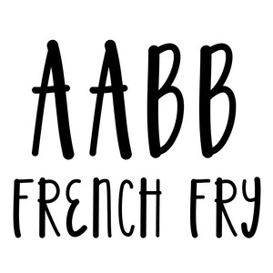french fry font