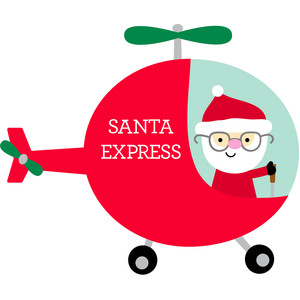 santa in helicopter