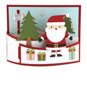 a2 flexi card santa north pole