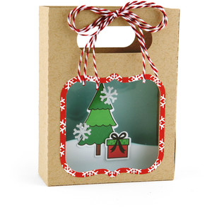 shadowbox gift card bag christmas tree