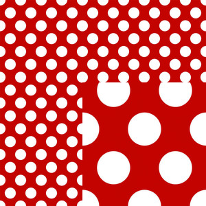 red polka dot - cute christmas paper collection