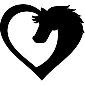 Silhouette Design Store View Design 168826 Horse Heart