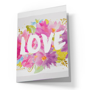 cute love card with flowers