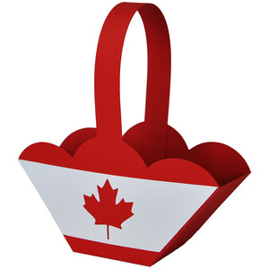 canada day maple leaf basket