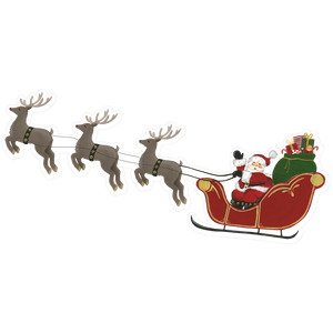 santa on sleigh