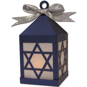 star david tea light lantern