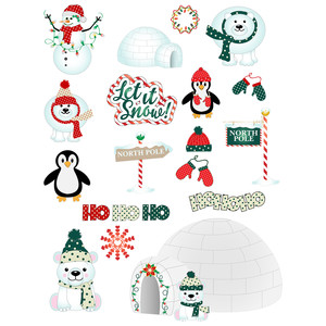 christmas colors north pole stickers