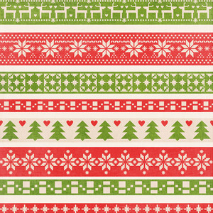 fair isle christmas background paper