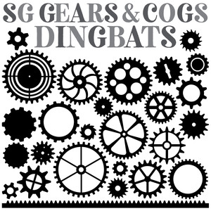 sg gears and cogs dingbats fonts