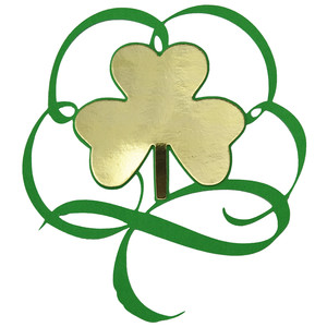shamrock in a flourish