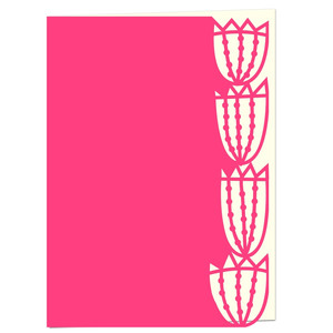 tulip lace edged card