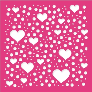 hearts & dots background