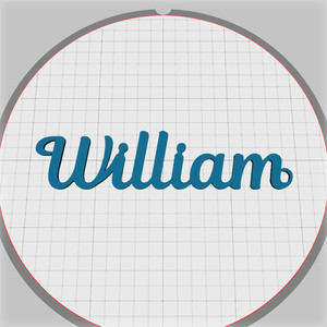 william name pendant