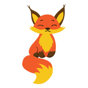 happy zen fox design