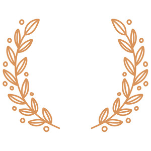 formal fall leaf wreath monogram frame