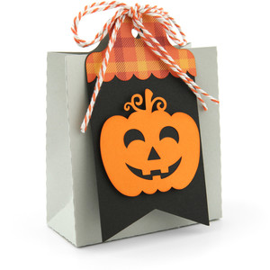 2 on 12x12 tag bag jack-o-lantern