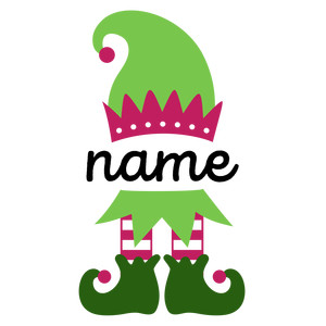 personalized name elf - girl