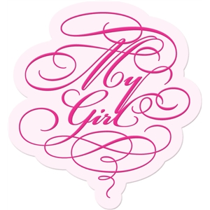 'my girl' word art