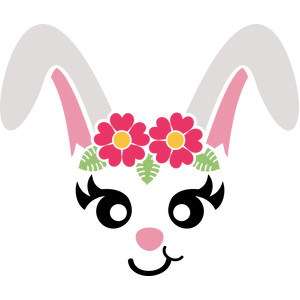 bunny flowers face